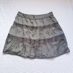 NEW White House Black Market mini skirt sage XS